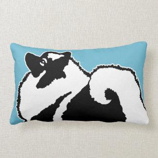 Keeshond Graphics Lumbar Pillow