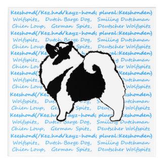 Keeshond Graphics with Words Acrylic Print