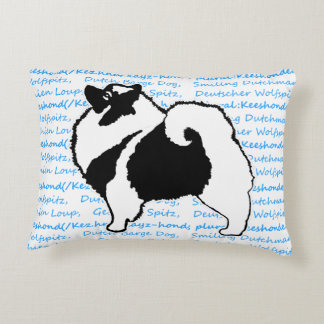 Keeshond Graphics with Words Decorative Cushion
