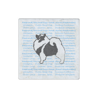 Keeshond Graphics with Words Stone Magnet