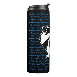 Keeshond Graphics with Words Thermal Tumbler