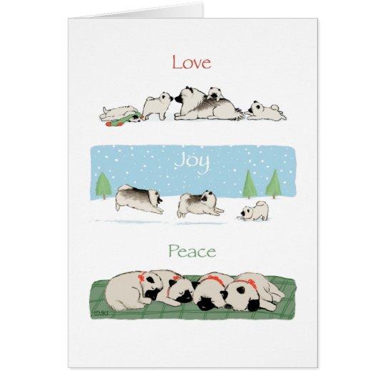 Keeshond Love Joy Peace Card