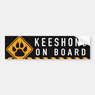 Keeshond On Board Bumper Sticker