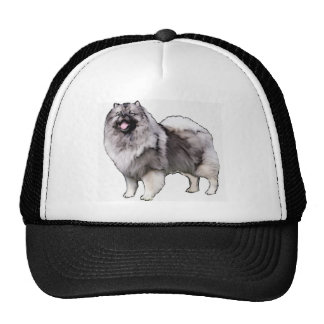 keeshond portrait trucker hat
