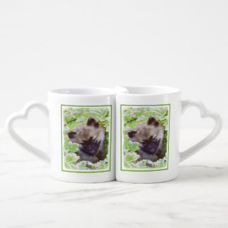 Keeshond Puppy Coffee Mug Set