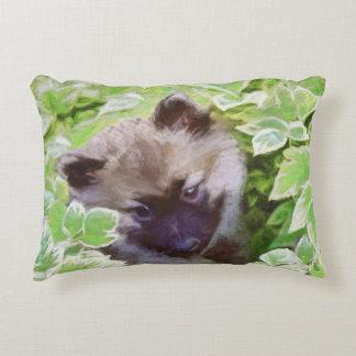 Keeshond Puppy Decorative Cushion