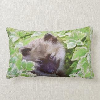 Keeshond Puppy Lumbar Pillow