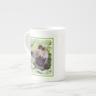 Keeshond Puppy Tea Cup