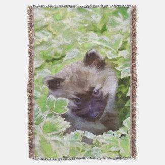 Keeshond Puppy Throw Blanket