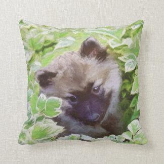 Keeshond Puppy Throw Pillow