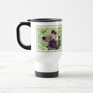 Keeshond Puppy Travel Mug