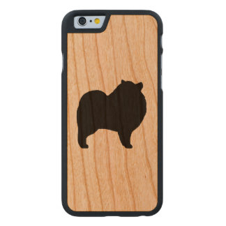 Keeshond Silhouette Carved Cherry iPhone 6 Case