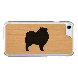 Keeshond Silhouette Carved iPhone 8/7 Case