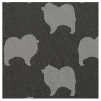 Keeshond Silhouettes Pattern Fabric