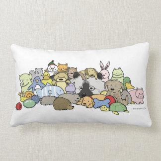 Keeshond with Toys Lumbar Pillow