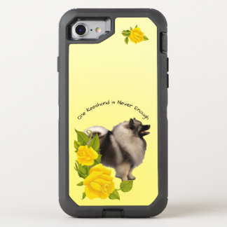 Keeshond, with Yellow Roses OtterBox Defender iPhone 8/7 Case