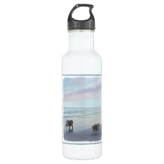 Keeshonds at the Seashore 710 Ml Water Bottle