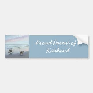 Keeshonds at the Seashore Bumper Sticker