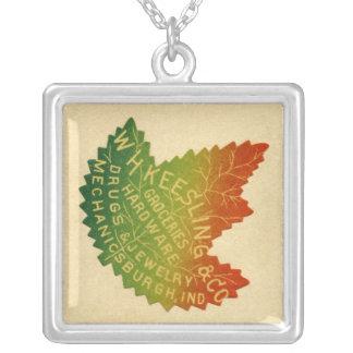 Keesling Leaf Square Pendant Necklace