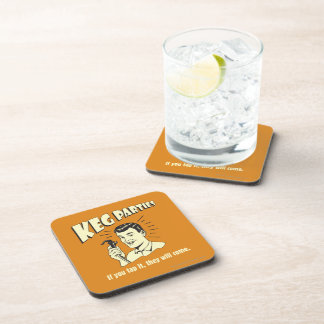Keg Parties: If Tap It They'll Come Beverage Coasters