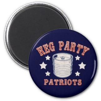 Keg Party Patriots 6 Cm Round Magnet