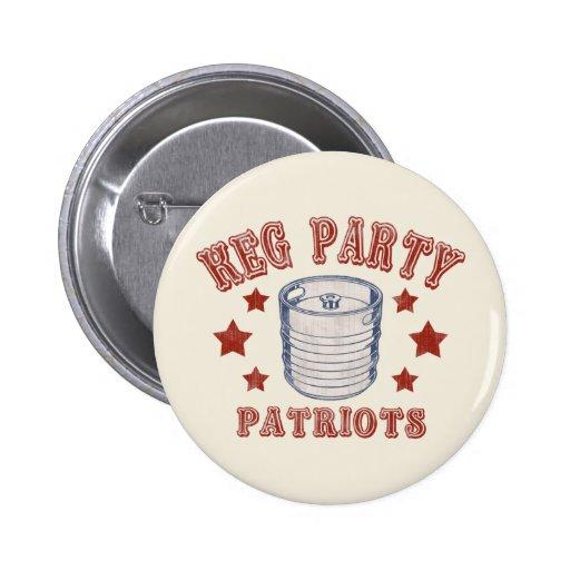 Keg Party Patriots Buttons