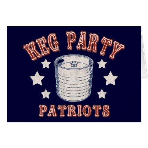 Keg Party Patriots Cards
