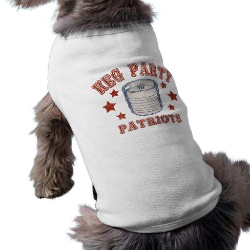 Keg Party Patriots Dog Tee Shirt
