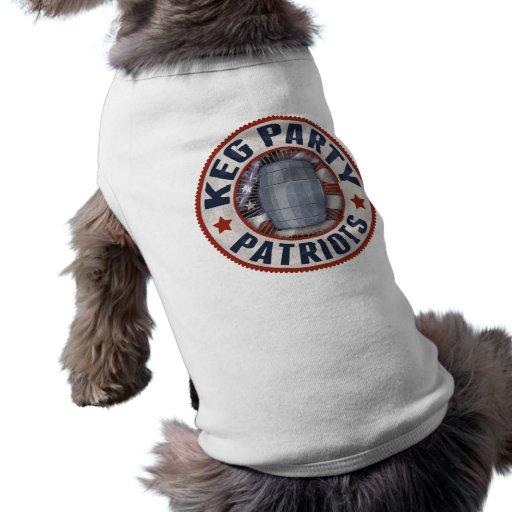Keg Party Patriots II Dog Tee Shirt