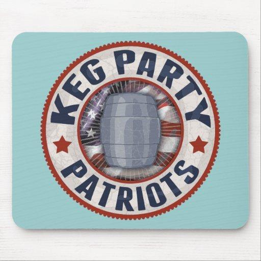 Keg Party Patriots II Mousepads