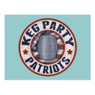 Keg Party Patriots II Postcard