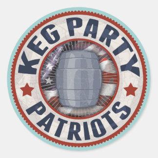 Keg Party Patriots II Round Sticker