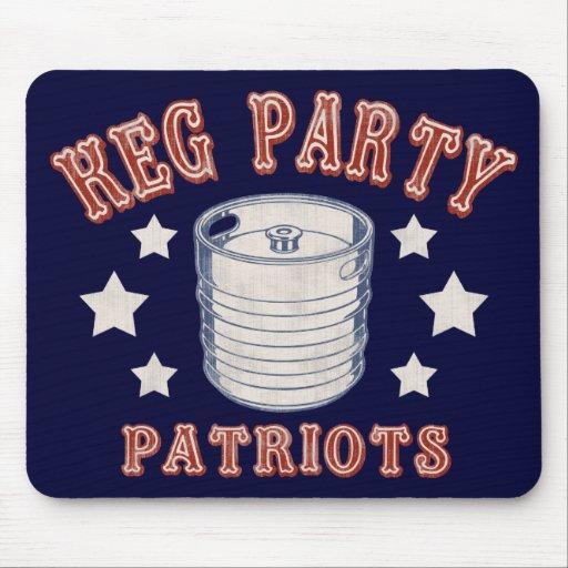 Keg Party Patriots Mousepads