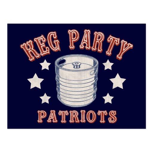 Keg Party Patriots Postcard