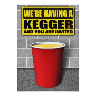 Kegger Invitations
