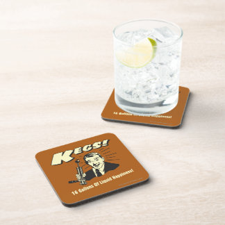 Kegs: 16 Gallons Liquid Happiness Coasters