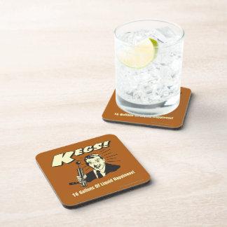 Kegs: 16 Gallons Liquid Happiness Beverage Coaster