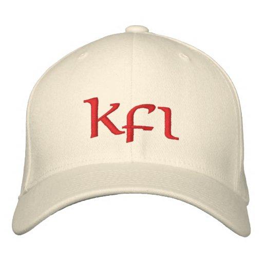 Keifi Kfi Red Embroidered Hats