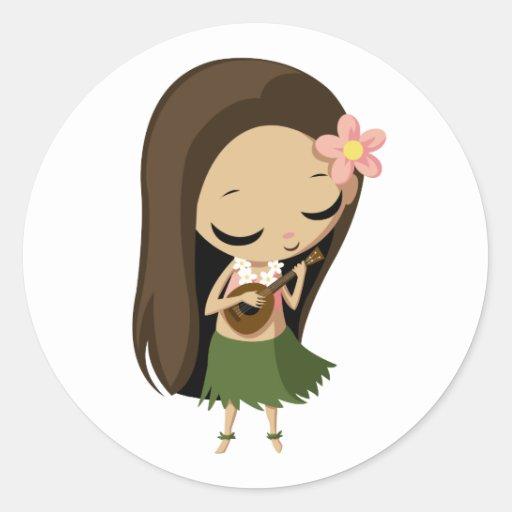 Keilana the Hula Girl Sticker