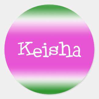 Keisha Classic Round Sticker
