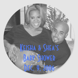 KeiShea, Keisha & Shea's Baby Shower Dec. 9, 2006 Classic Round Sticker