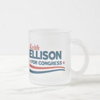 Keith Ellison Frosted Glass Coffee Mug