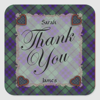 Keith Scottish clan tartan - Plaid Square Sticker