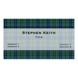 Keith Tartan Plaid Custom Double-Sided Standard Business Cards (Pack Of 100)