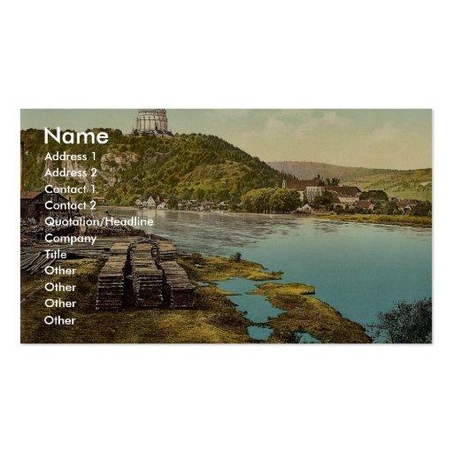 Kelheim and Liberation Hall, Bavaria, Germany vint Business Cards