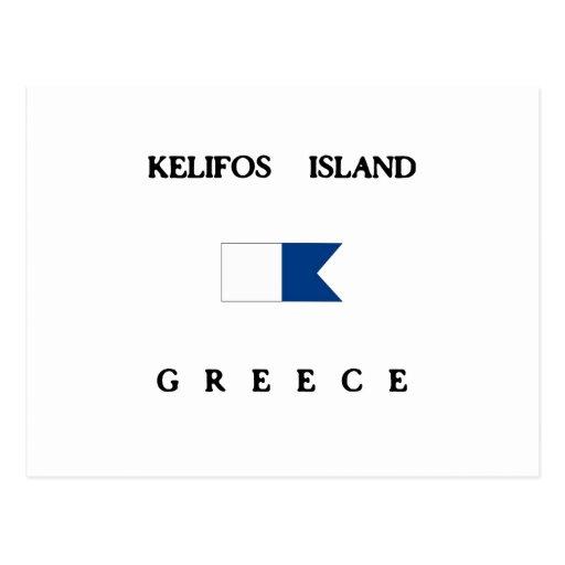 Kelifos Island Alpha Dive Flag Postcard