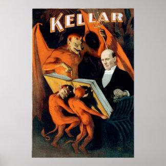 Kellar Devil Magician Poster