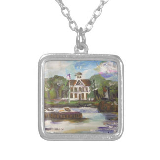 Kelleys Island Painting #1 Square Pendant Necklace
