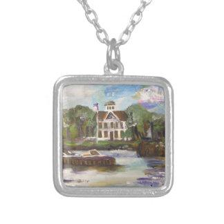 Kelleys Island Painting #1 Square Pendant Necklace