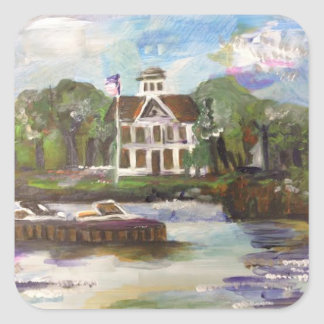 Kelleys Island Painting #1 Square Sticker